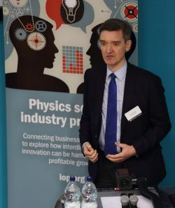Martin Whitworth speaking at Institute of Physics conference