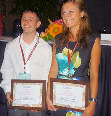 Edyta Margas and Danny Bayliss of Campden BRI have received awards