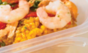 Ready meals in plastic packaging