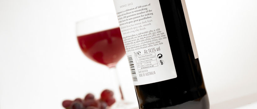 Pre-bottling analysis and Post-bottling analyis of wine